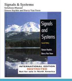 دانلود حل تمرین سیگنال ها و سیستم ها هیکین