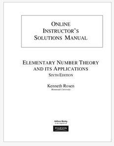 دانلود حل المسائل کتاب نظریه اعداد مقدماتی روزن