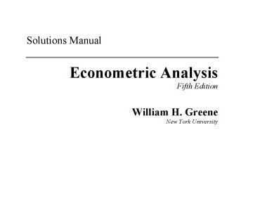 حل المسائل کتاب آنالیز اقتصاد سنجی گرین William Greene