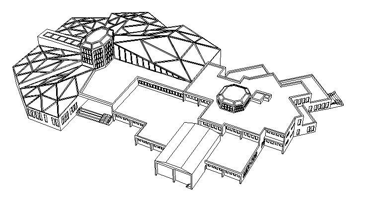 یک نمونه دیگر پروژه موزه تاریخ طبیعی همراه با پلان ها ، پرسپکتیو