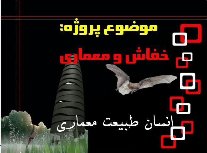 پروژه انسان  طبیعت  معماری - خفاش و معماری