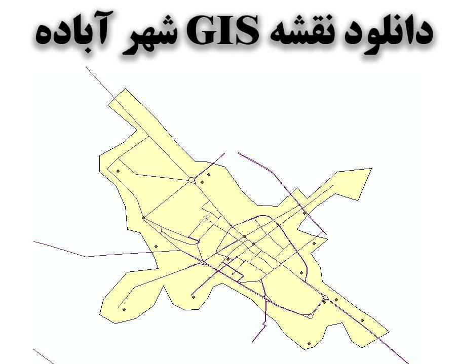دانلود نقشه GIS شهر آباده