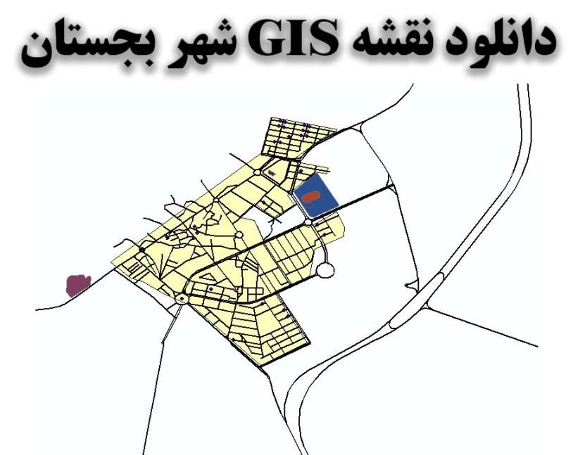 دانلود نقشه GIS شهر بجستان