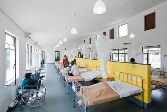 دانلود پاورپوینت معماری با موضوع بخش بستری بیمارستان