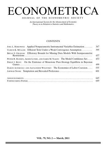 Econometrica (2011) Vol. 79 N°2