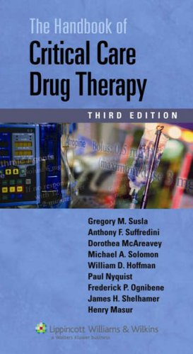 Handbook of Critical Care Drug Therapy