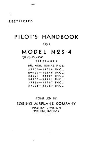 Pilots Handbook for Model N2S-4 Airplane