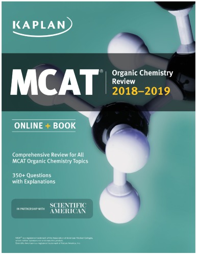 MCAT Organic Chemistry Review 2018-2019