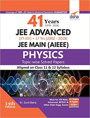 Physics 41 years (1978-2018) JEE Advanced (IIT-JEE) + 17 yrs JEE Main (2002-2018) Disha Sunil Batra