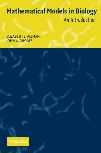 Mathematical models in biology: solution manual