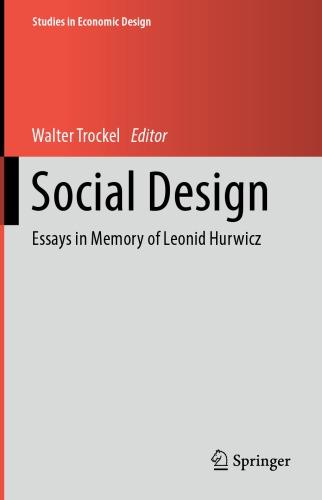 Social Design: Essays In Memory Of Leonid Hurwicz