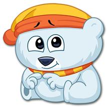 پک  آماده ساخت استیکر 40 عددی خرس قطبی کارتونی