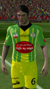 کیت لباس و لوگو تیم خونه به خونه بابل برای بازی فوتبال FTS15