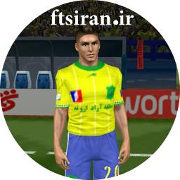 کیت لباس ها و لوگو صنعت نفت آبادان فصل 96_97 برای بازی فوتبال FTS15