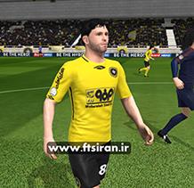 کیت لباس و لوگو سپاهان فصل 97_98 برای بازی فوتبال  دریم لیک ساکر و FTS15