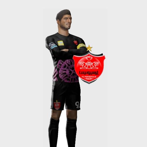کیت فصل لباس و لوگو پرسپولیس فصل 1399_1400 برای بازی فوتبال  دریم لیک ساکر 21