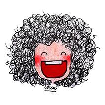 دانلود  مجموعه  پک  ساخت استیکر 16 عددی دختر مو فرفری