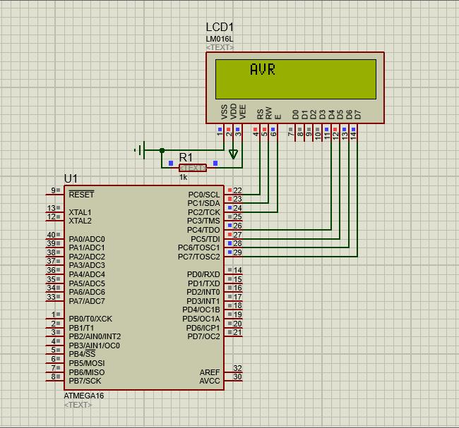 دانلود پروژه نمایش متن متحرک در LCD با پروتئوس به