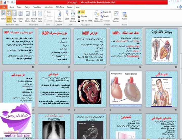 مجموعه پاورپوئینت در مورد انواع جراحیهای قلب-اورژانس قلب-  آناتومی، فیزیولوژی و الكترو فیزیولوژی قلب-بیماری عروق کرونر CAD