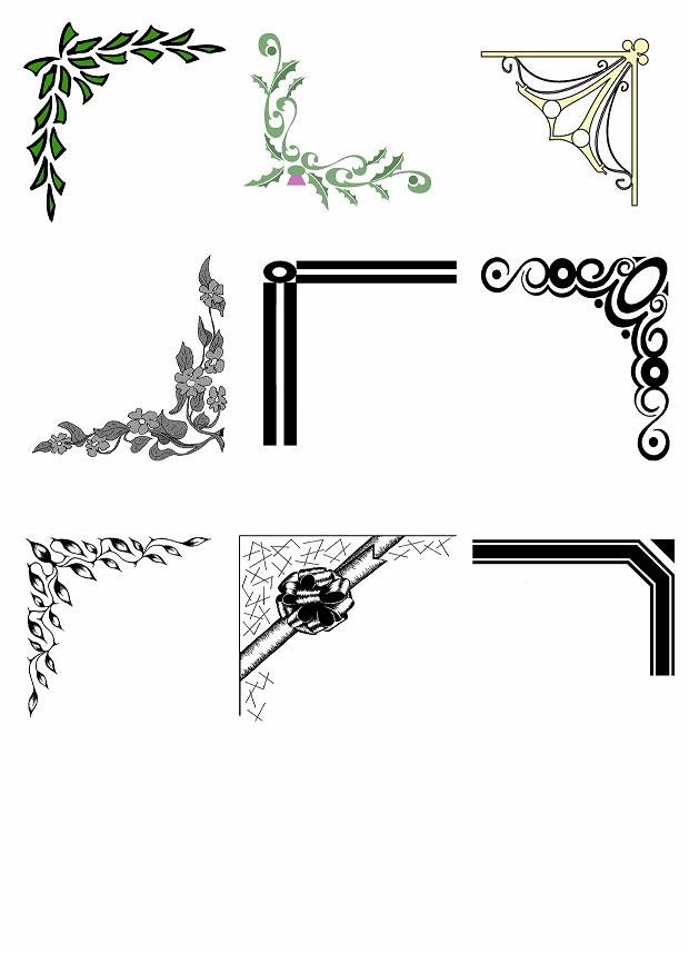 دانلود پک کامل  طرح های حاشیه گوشه و کنار صفحه با کیفیت بالا (دانش یاران )