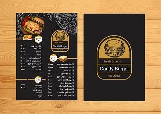 طرح لایه باز PSD منو غذا رستوران ، ساندویچی، فست فود، (دانش یاران)