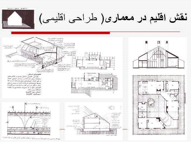 نقش اقلیم در معماری( طراحی اقلیمی)