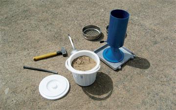 گزارش کار آزمایشگاه مکانیک خاک آزمایش مخروط ماسه