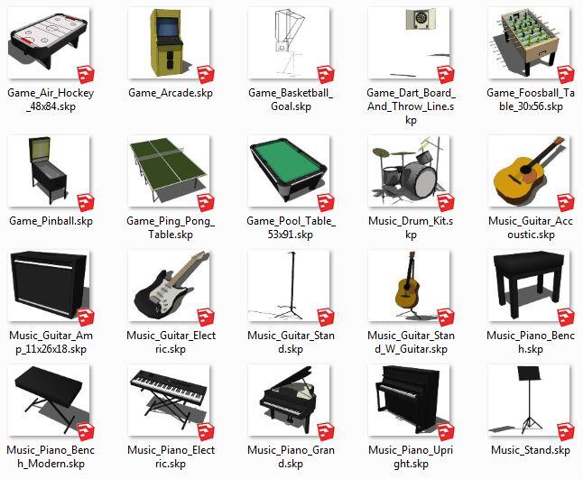 کامپوننت های اسکچاپ Music+Games