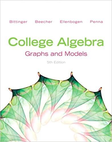 حل مسائل جبر دانشگاهی، گراف ها و مدل ها تالیف بیتینگر و بیچر به صورت PDF و به زبان انگلیسی در 332 صفحه