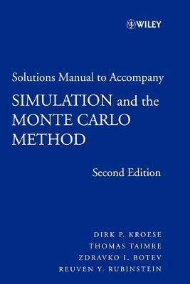 حل مسائل شبیه سازی و روش مونت کارلو دیرک کروس و توماس تایمر به صورت PDF و به زبان انگلیسی در 183 صفحه