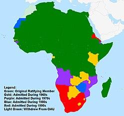 پاورپوینت کامل و جامع با عنوان بررسی سازمان وحدت آفریقا و اتحادیه آفریقا در 14 اسلاید