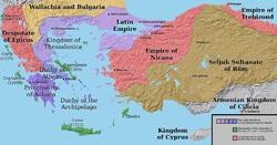 پاورپوینت کامل و جامع با عنوان بررسی امپراتوری نیقیه در 22 اسلاید