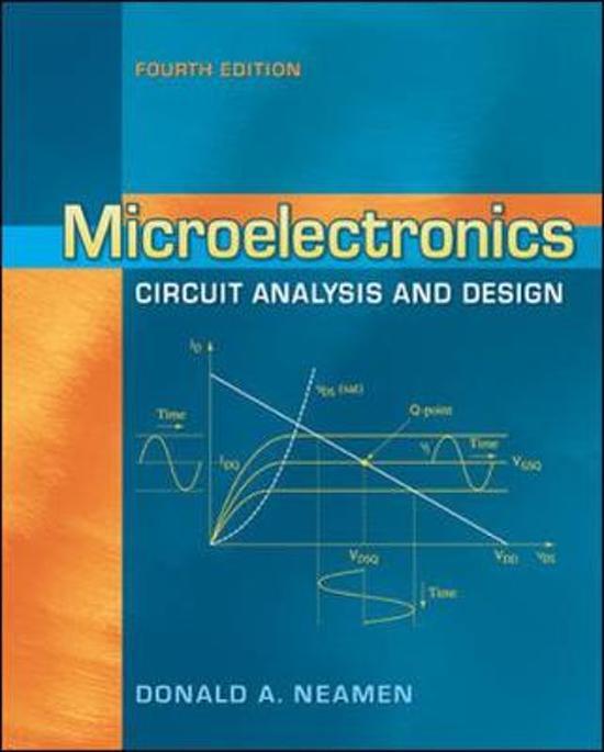 حل مسائل تحلیل و طراحی مدارهای میکروالکترونیک دونالد نیمن ویرایش چهارم به صورت PDF و به زبان انگلیسی در 664 صفحه