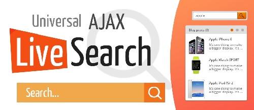 جستجوی آجاکسی در جوملا Universal AJAX Live Search 5.4.1