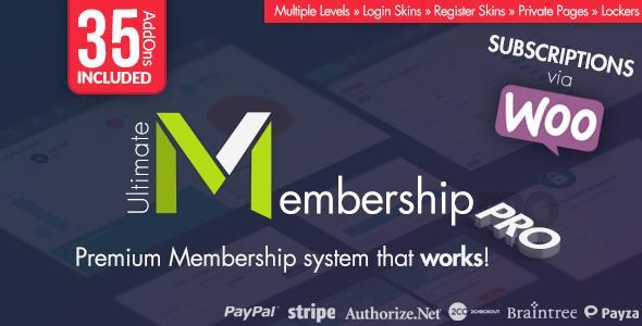 افزونه  عضویت ویژه Ultimate Membership Pro v6.3