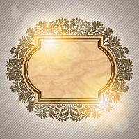 قالب متن طلایی و طرح دار