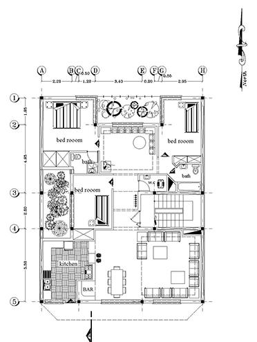 نقشه های آپارتمان -ابعاد 12 در 15- 180 متر بنا 3خوابه تک واحدی -3طبقه روی همکف پارکینگ و تیپ طبقات به همراه سایت پلان-2نما با معرفی مصالح و برش-3طبقه