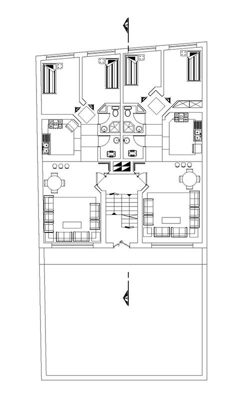 آپارتمان-300 متر زمین -ابعاد بنا 12در14 -دو واحدی-دوخوابه-زیر زمین پارکینگ ، همکف و اول مسکونی-2 نما و 1 برش به همرا پلان تیر ریزی (1)