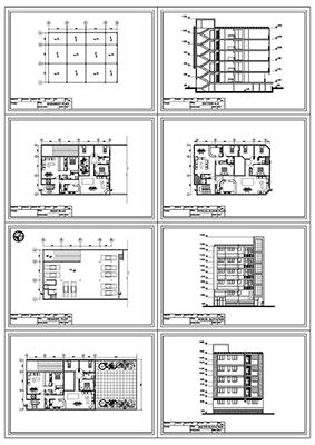 آپارتمان 14 در 19-2 دو واحدی- 3 و 2 خوابه-290متر بنا-پلان زیر زمین پارکینگ و همکف و تیپ طبقات 2 نما یک برش به همراه پلان تیر ریزی و سایت پلان