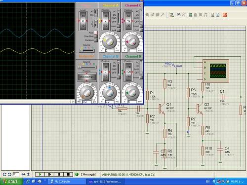 ازمایشگاه الکترونیک2شبیهسازی با proteus