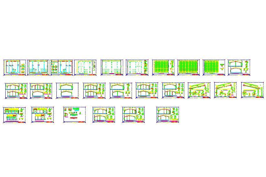 نقشه و جزئیات کامل اجرایی یک سوله 6000 متری