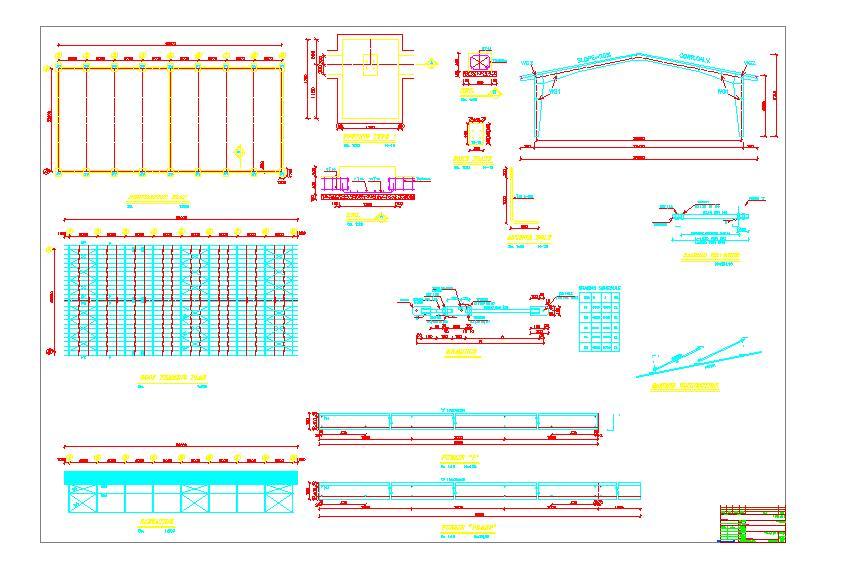نقشه اجرایی سوله