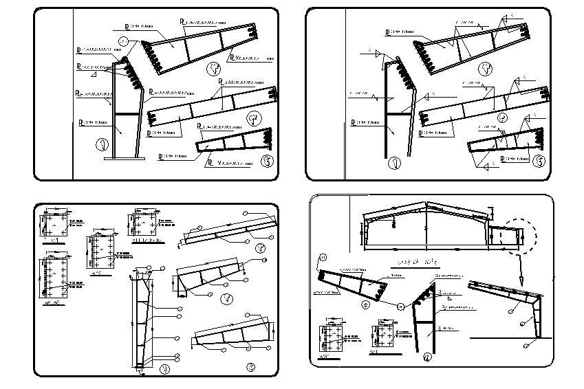 نقشه و جزئیات کامل اجرایی یک سوله