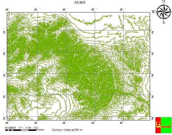 دانلود نقشه کوهستان الوند