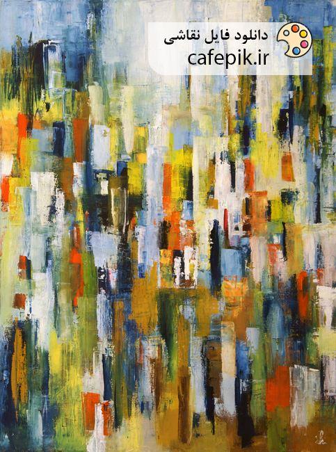 دانلود نقاشی مدرن شماره 1 بوم رنگارنگ