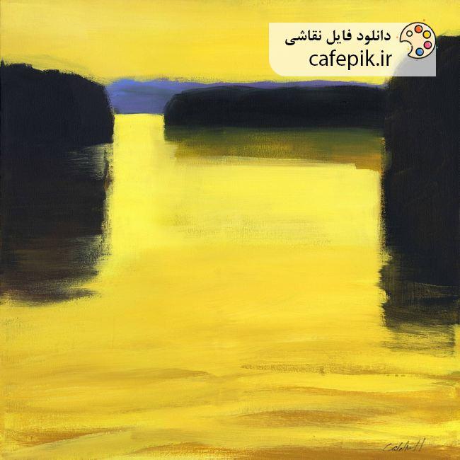 دانلود نقاشی مدرن شماره 8 زرد آفتاب طلایی