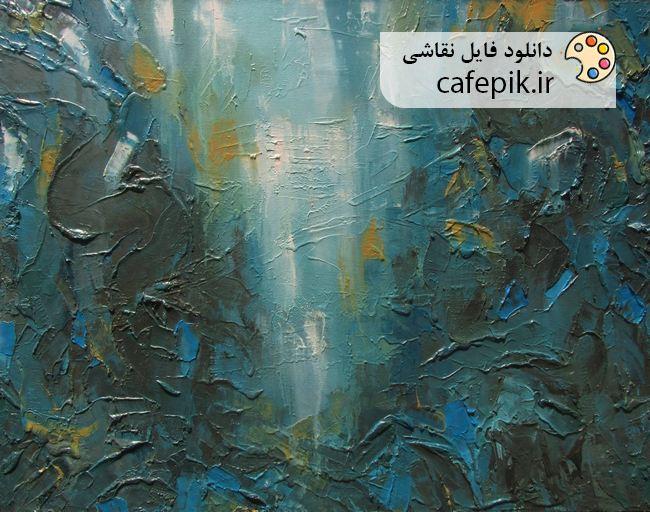 دانلود نقاشی مدرن شماره 34  آبستره برجسته رنگ روغن