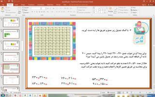 پاورپوینت فصل 6 ریاضی دوم دبستان (ابتدایی): جمع و تفریق اعداد سه رقمی