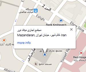 نمایش نقشه آدرس در جوملا  2.5 و 3