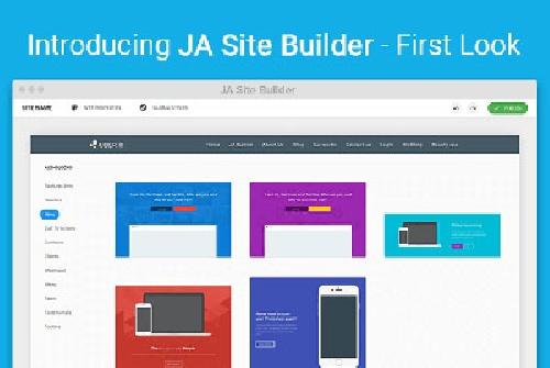صفحه ساز پیشرفته جوملا JA Builder PRO
